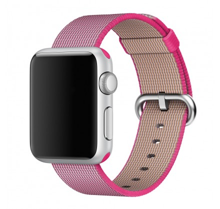 Ремешок Apple Watch 42/44мм из плетеного нейлона (ярко-...