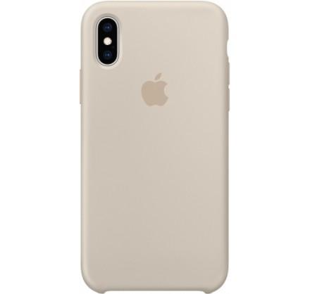Чехол Silicone Case iPhone Xs Max светло-серый