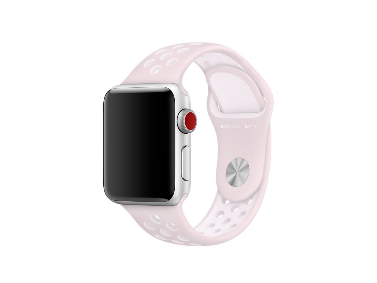 Силиконовый ремешок Apple Watch Nike 42/44мм розовый в Тюмени