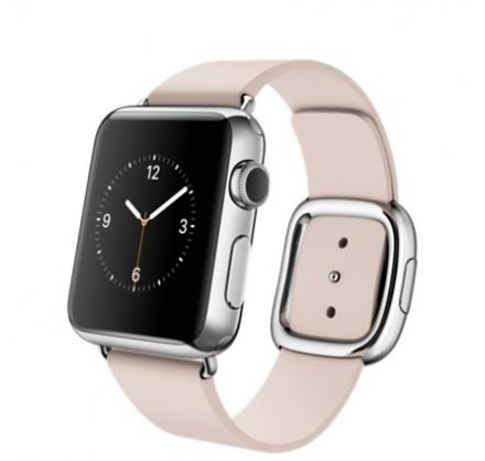 Ремешок кожаный Apple Watch 38/40мм Modern Buckle (розо...