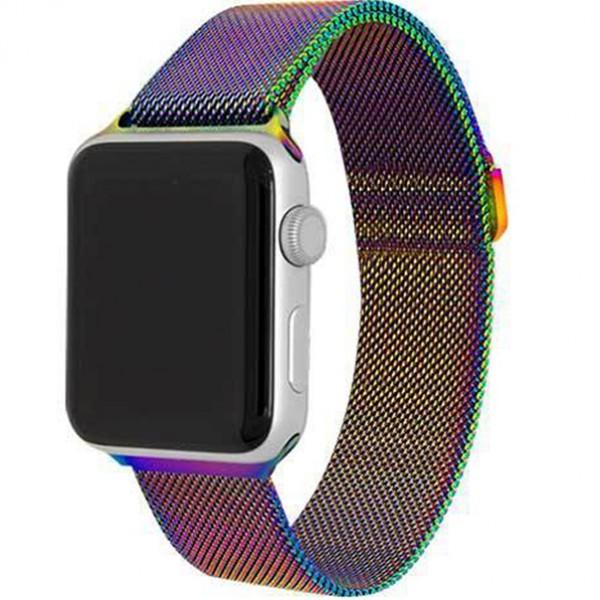Браслет Apple Watch 38/40мм миланский сетчатый (хамелеон)