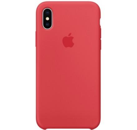 Чехол Silicone Case iPhone X/Xs малиновый