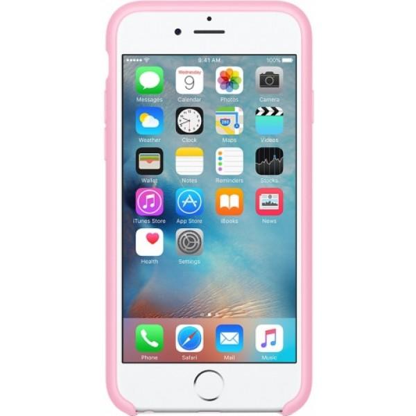 Чехол Silicone Case качество Lux для iPhone 6/6s розовый