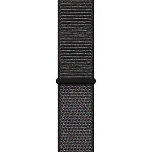 Apple Watch Series 4, 40 мм, корпус из алюминия цвета (серый космос), спортивный браслет чёрного цвета