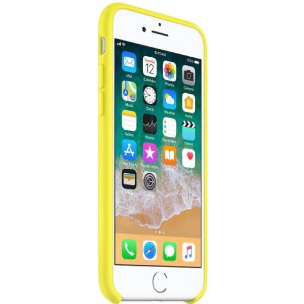 Чехол Silicone Case качество Lux для iPhone 7/8 желтый