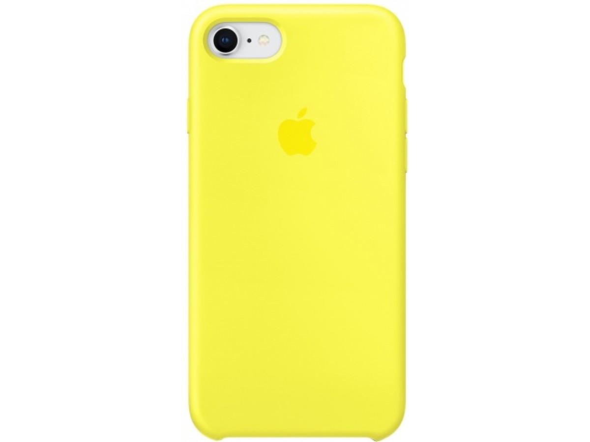 Чехол Silicone Case качество Lux для iPhone 7/8 желтый в Тюмени