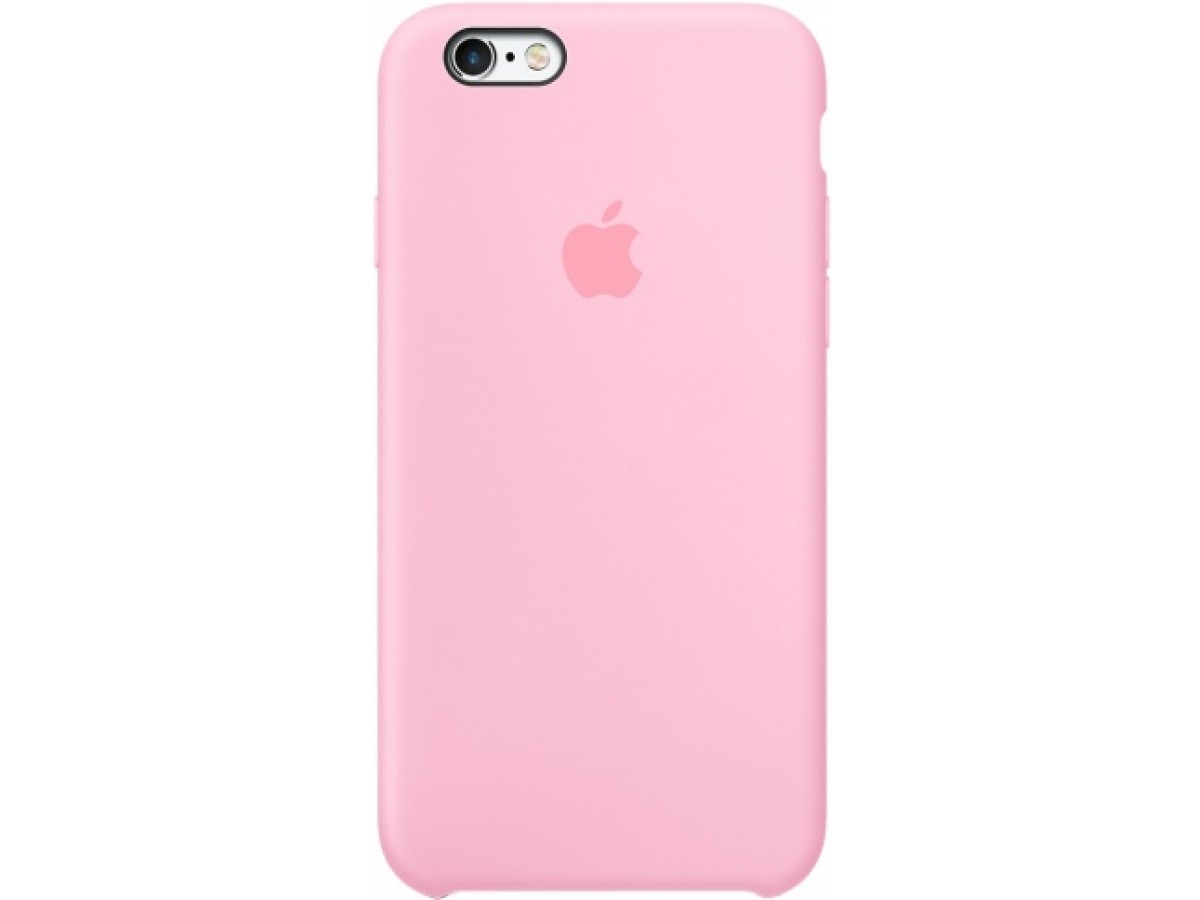 Чехол Silicone Case качество Lux для iPhone 6/6s розовый в Тюмени