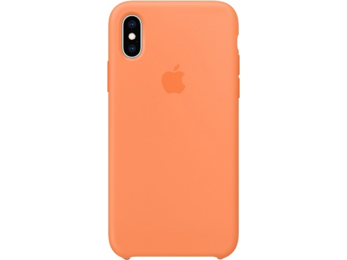 Чехол Silicone Case iPhone X/Xs оранжевый в Тюмени