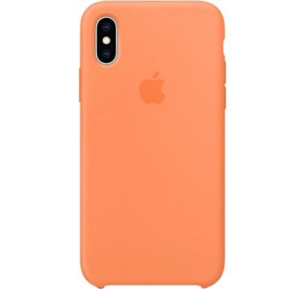 Чехол Silicone Case качество Lux для iPhone X/Xs оранже...