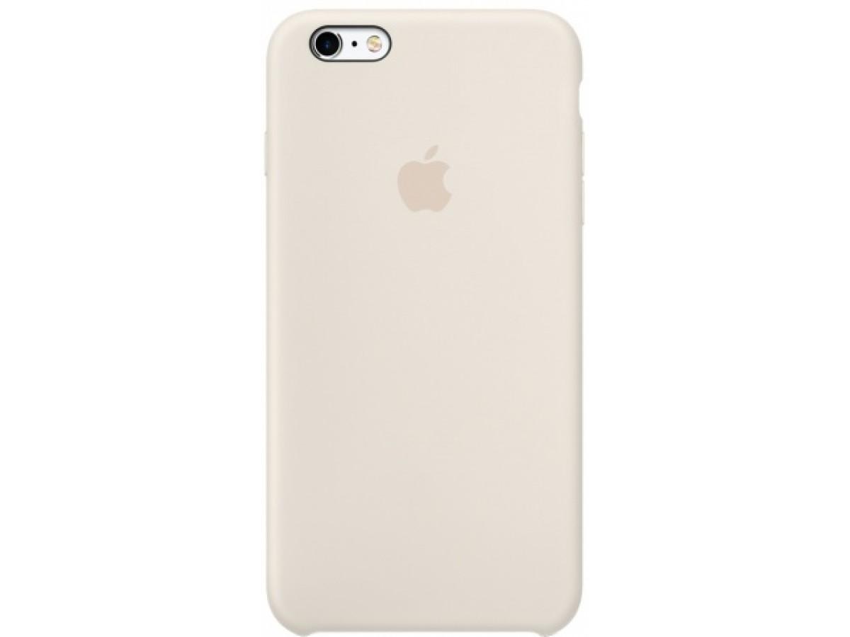 Чехол Silicone Case iPhone 6/6s бежевый в Тюмени