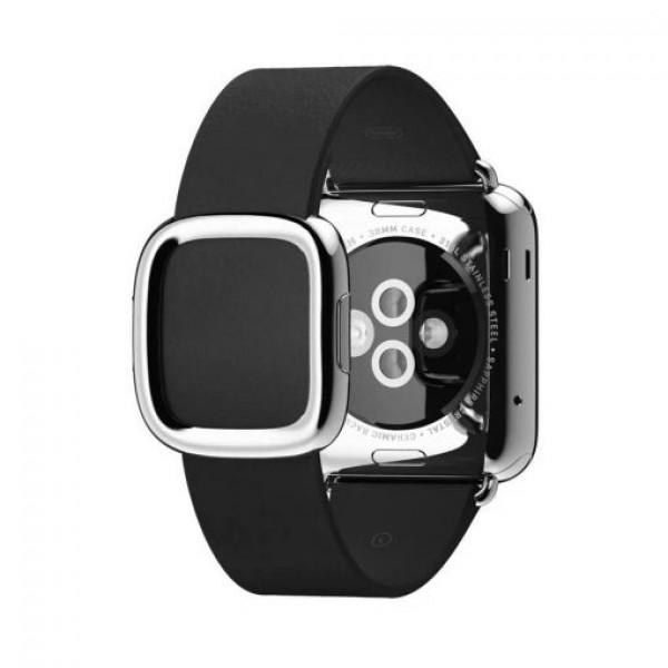 Ремешок кожаный Apple Watch 38/40мм Modern Buckle (черный)