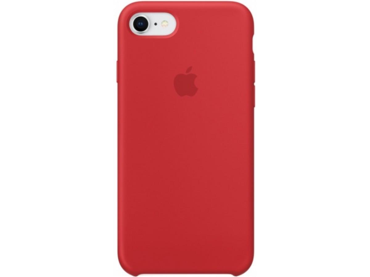 Чехол Silicone Case качество Lux для iPhone 7/8 красный в Тюмени