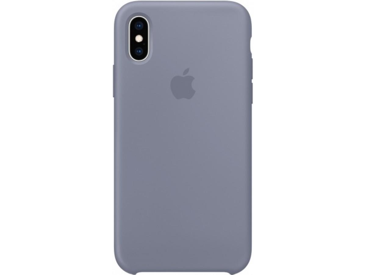 Чехол Silicone Case iPhone Xs Max темно лавандовый в Тюмени