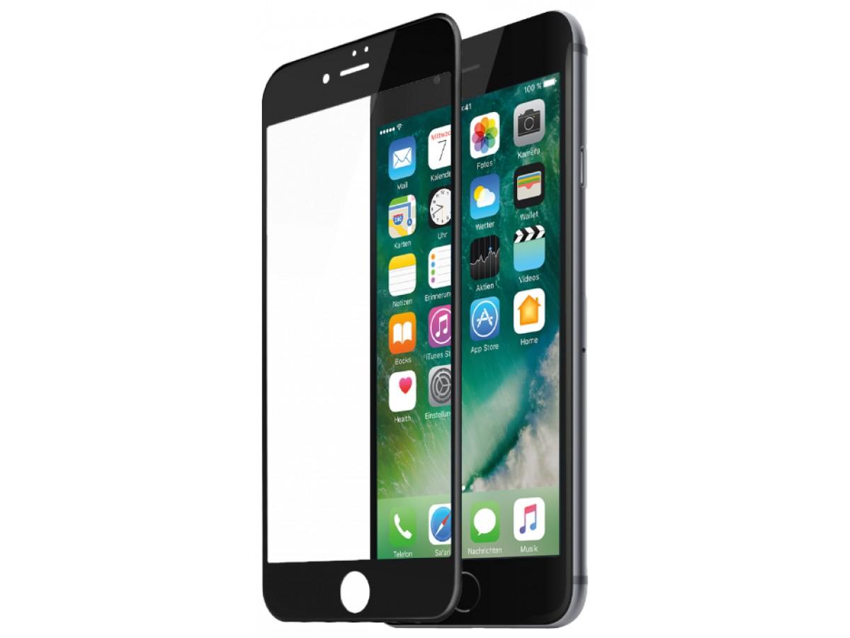 Стекло защитное iPhone 6/6s (3D) черное в Тюмени