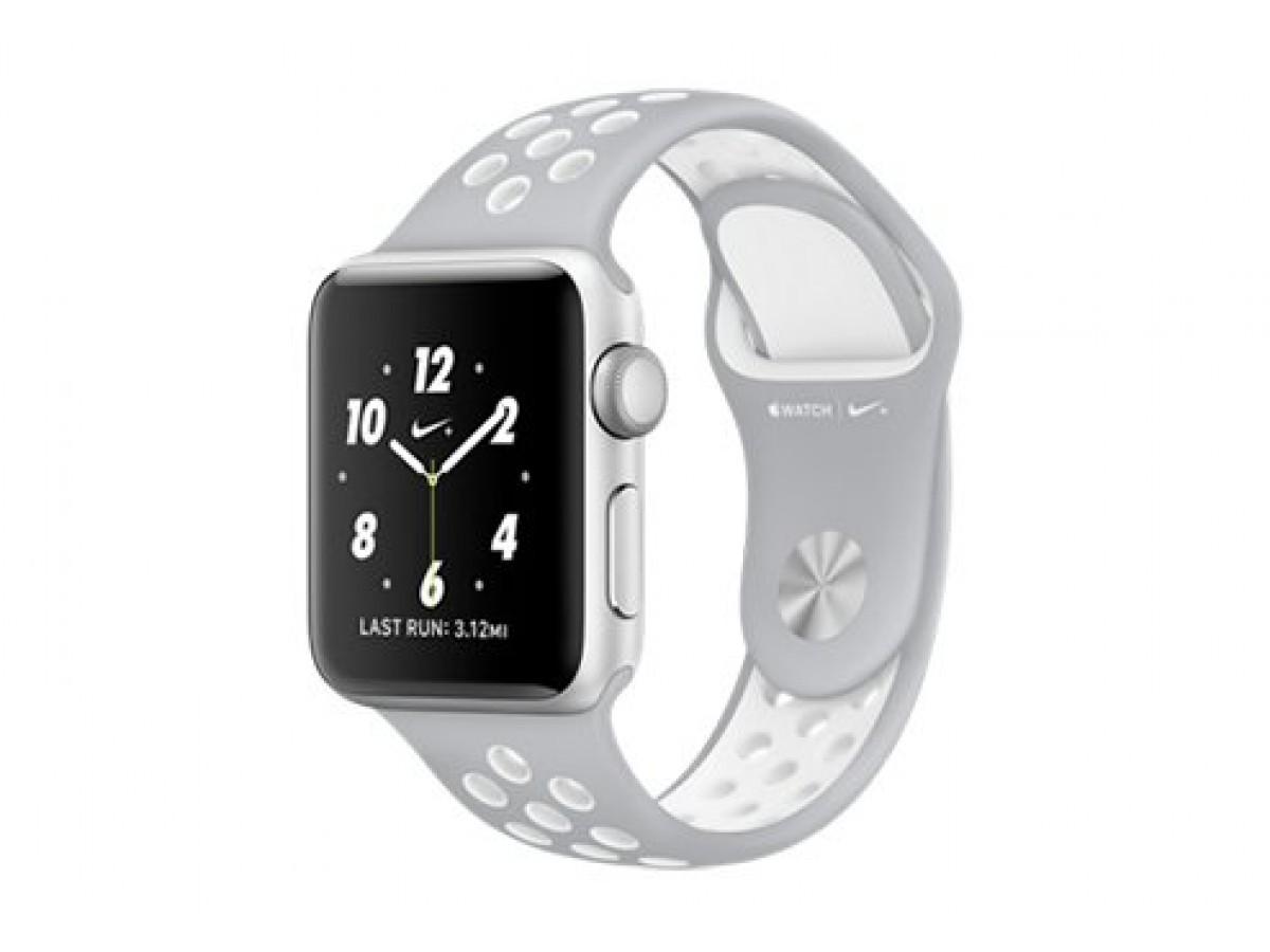 Силиконовый ремешок Apple Watch Nike 42/44мм серый в Тюмени