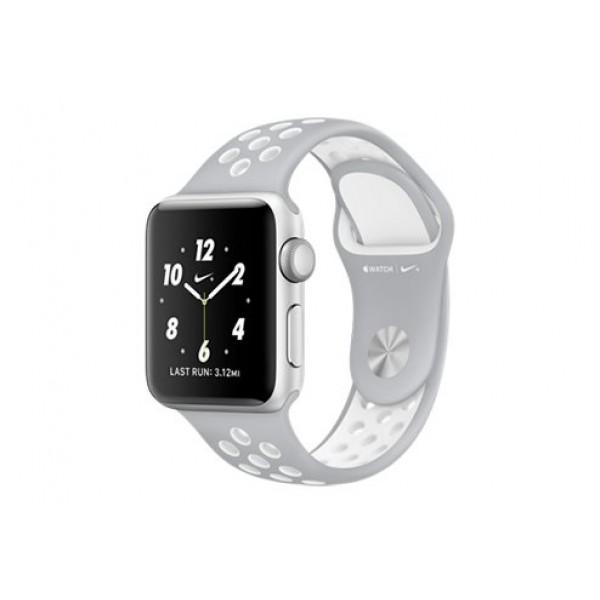 Силиконовый ремешок Apple Watch Nike 42/44мм серый