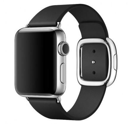 Ремешок кожаный Apple Watch 38/40мм Modern Buckle (черн...
