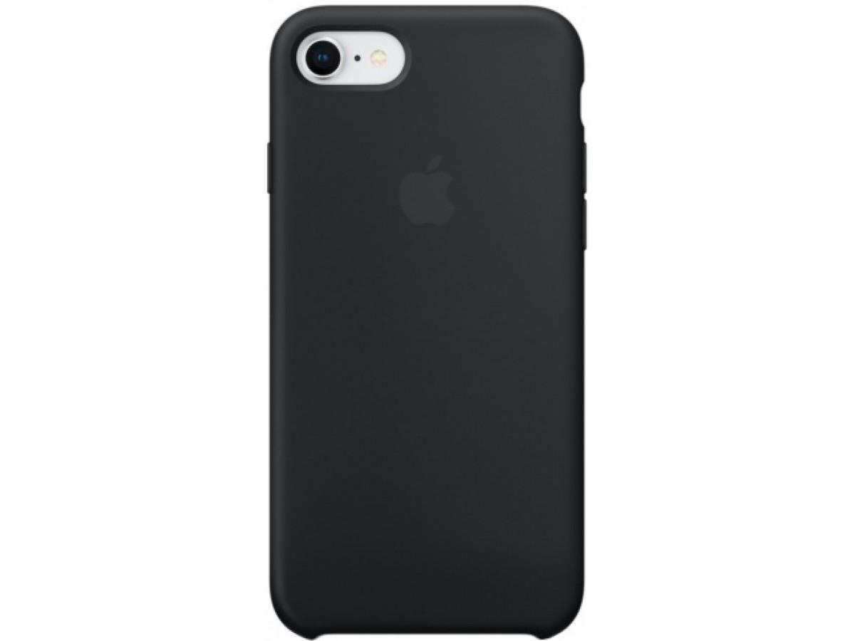 Чехол Silicone Case iPhone 7/8 черный в Тюмени