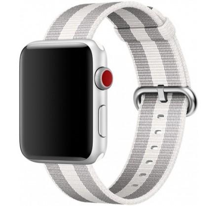 Ремешок Apple Watch 38/40мм из плетеного нейлона (серый...