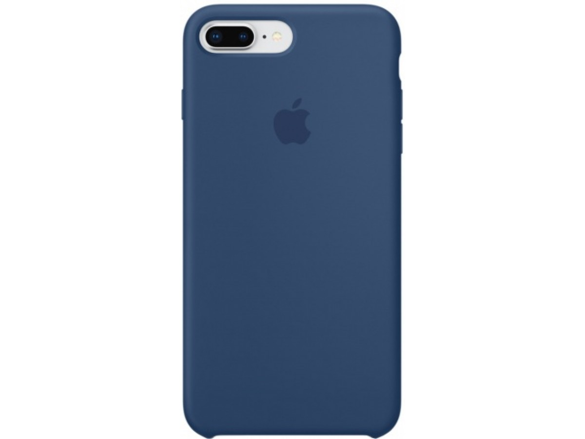Чехол Silicone Case iPhone 7 Plus/8 Plus синий кобальт в Тюмени