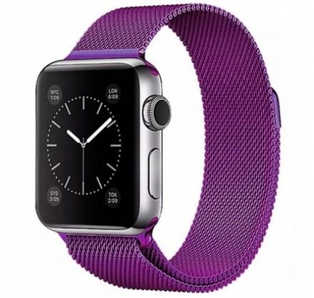 Ремешок миланский браслет Apple Watch 38/40 мм фиолетов...