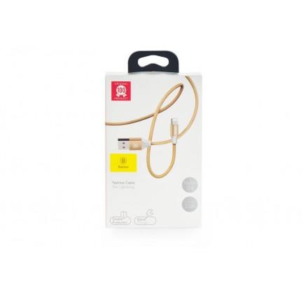 Кабель зарядки Baseus 1m в оплетке и нейлоне (золотой)