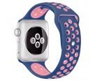 Силиконовый ремешок Apple Watch Nike 42/44мм синий