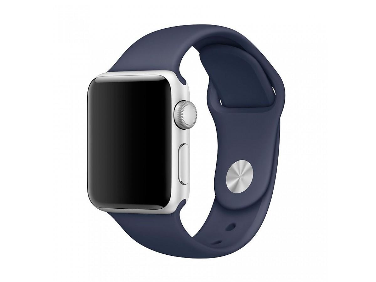 Силиконовый ремешок Apple Watch 38/40мм темно-синий в Тюмени
