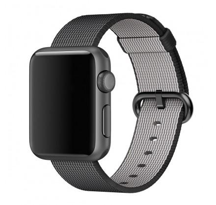 Ремешок Apple Watch 38/40мм из плетеного нейлона (темно...