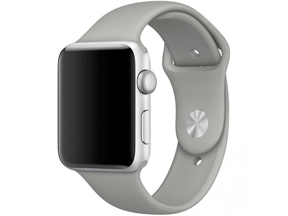 Силиконовый ремешок Apple Watch 42/44мм серый в Тюмени