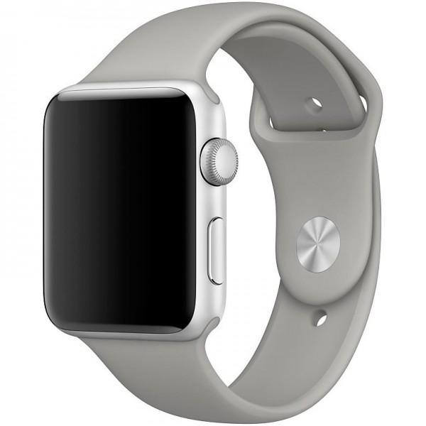 Силиконовый ремешок Apple Watch 42/44мм серый