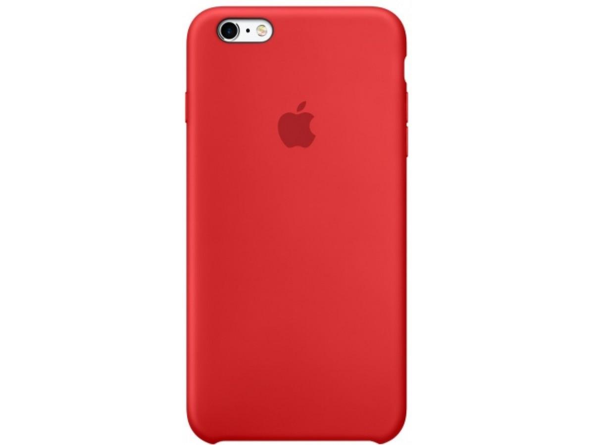 Чехол Silicone Case iPhone 6 Plus/6s Plus красный в Тюмени