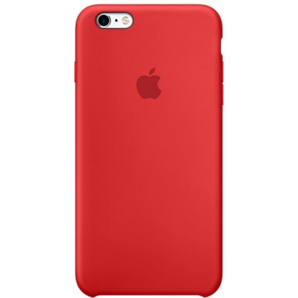 Чехол Silicone Case качество Lux для iPhone 6 Plus/6s Plus красный