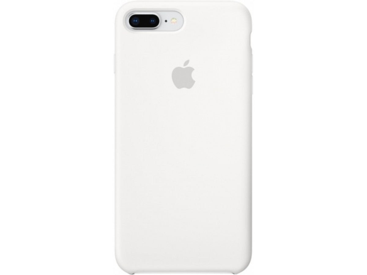 Чехол Silicone Case iPhone 7 Plus/8 Plus белый в Тюмени