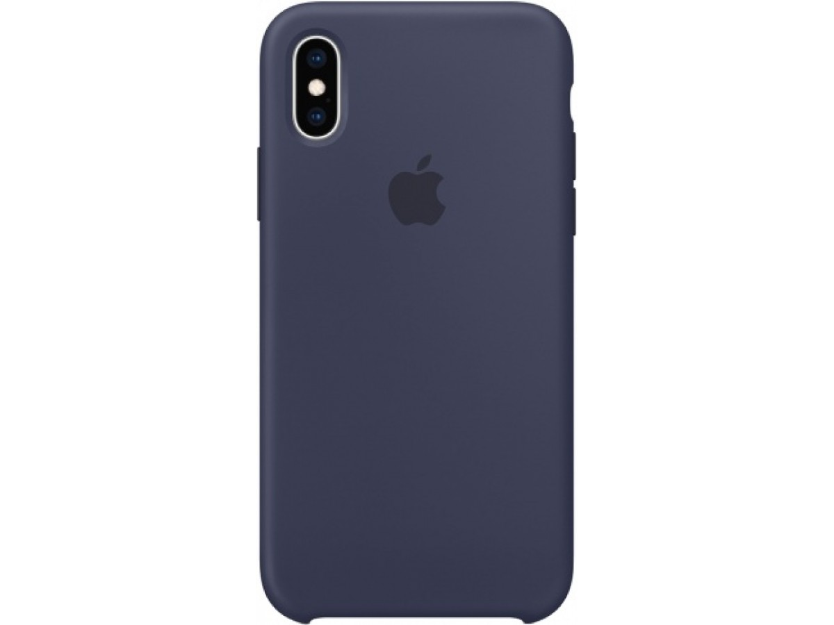 Чехол Silicone Case iPhone Xs Max темно синий