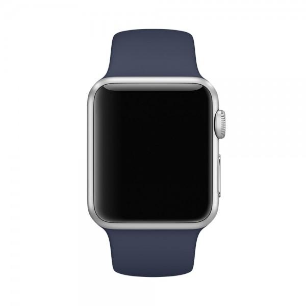 Силиконовый ремешок Apple Watch 38/40мм темно-синий