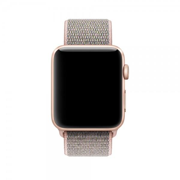 Браслет Apple Watch 38/40мм Спортивная петля( розовый)