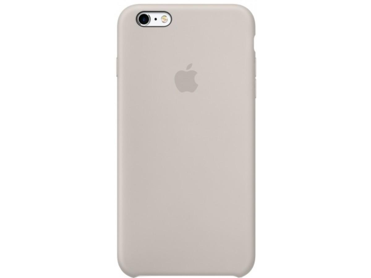 Чехол Silicone Case iPhone 6/6s светло-серый в Тюмени