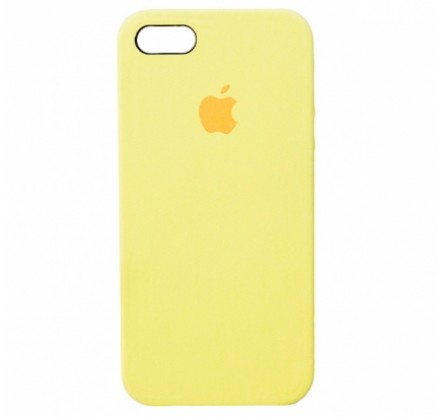 Чехол Silicone Case iPhone 5s/SE желтый