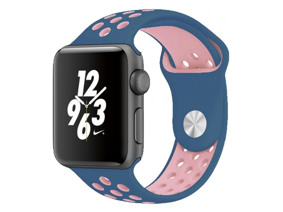 Силиконовый ремешок Apple Watch Nike 42/44мм синий в Тюмени