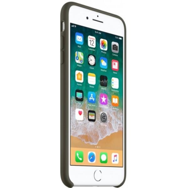 Чехол Silicone Case iPhone 7 Plus/8 Plus темно оливковый