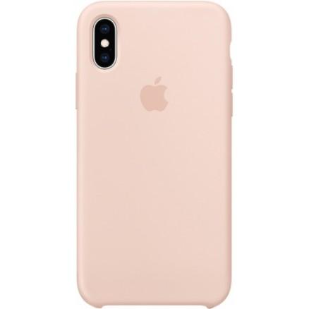 Чехол Silicone Case iPhone X/Xs светло-розовый