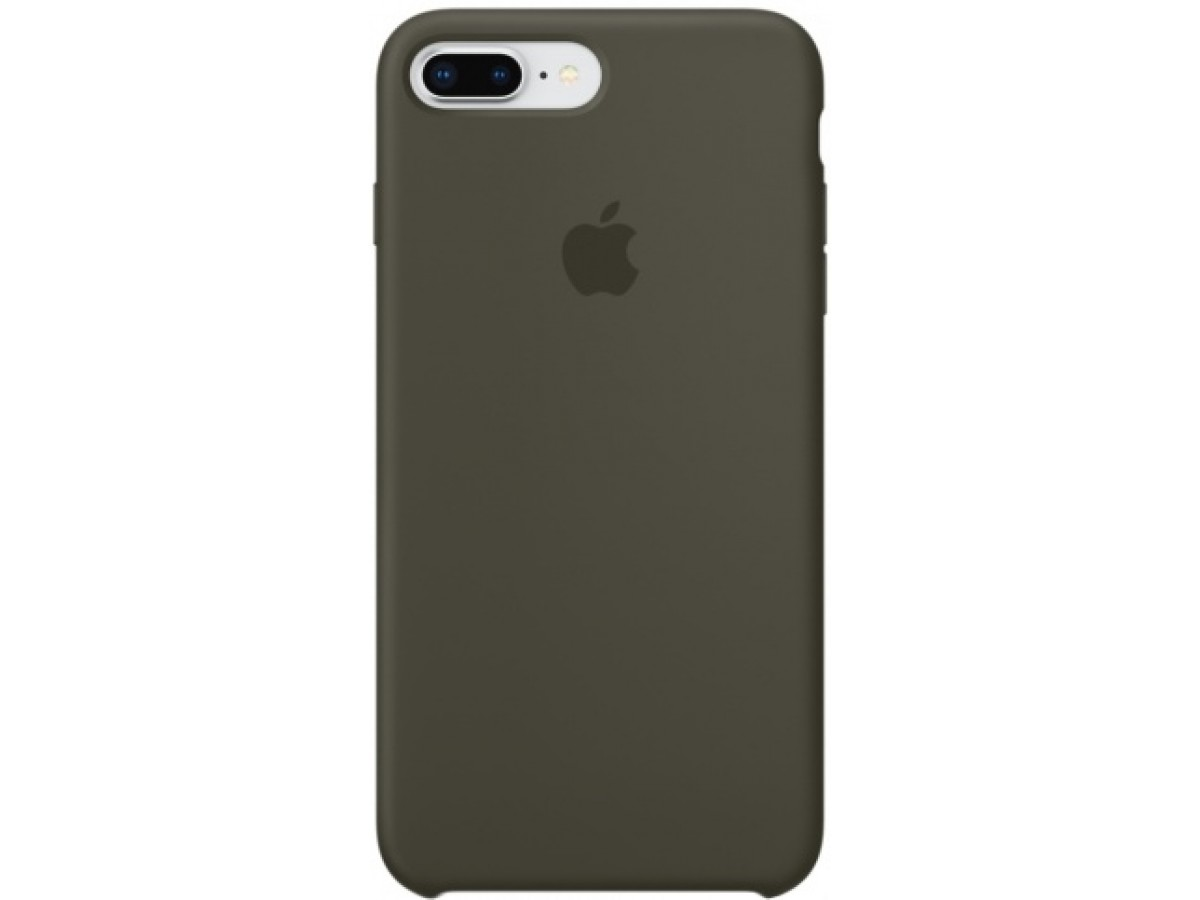 Чехол Silicone Case iPhone 7 Plus/8 Plus темно оливковый в Тюмени