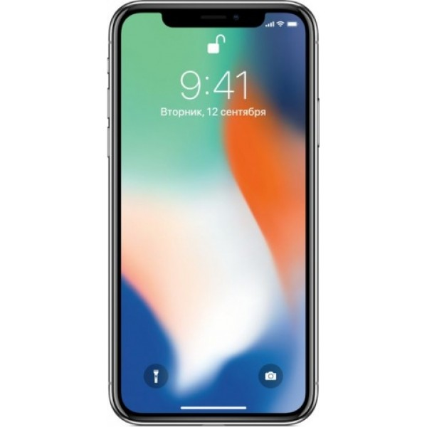 Apple iPhone X 256GB (серебристый)