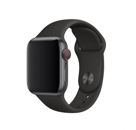 Силиконовый ремешок Apple Watch 42/44мм черный