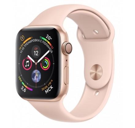 Apple Watch Series 4, 44 мм, корпус из алюминия золотог...
