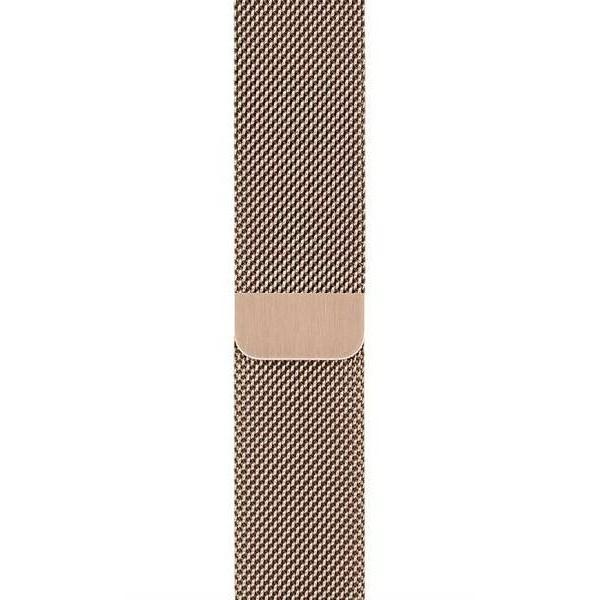Ремешок миланский браслет Apple Watch 42/44 мм золотой