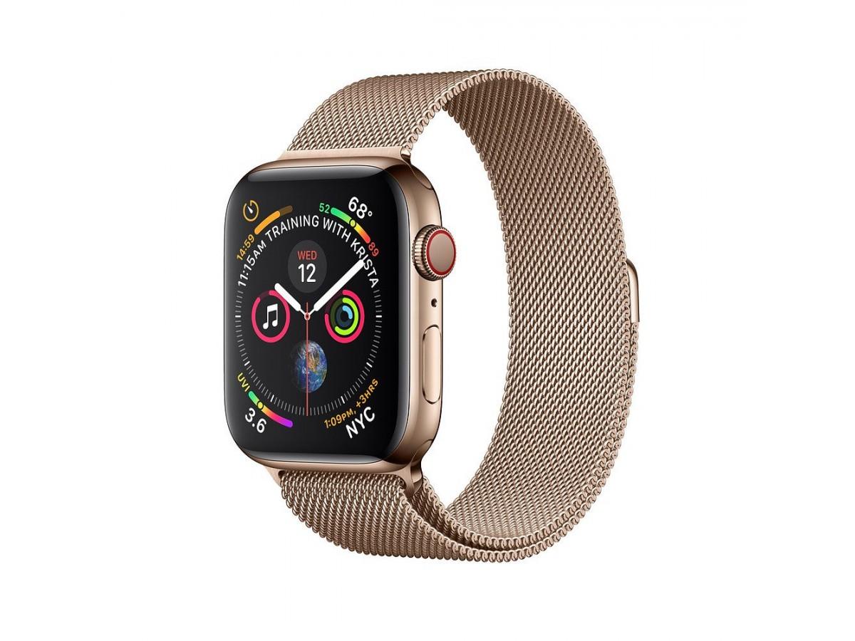 Браслет Apple Watch 42/44мм миланский сетчатый (золотой) в Тюмени