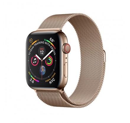 Браслет Apple Watch 42/44мм миланский сетчатый (золотой...