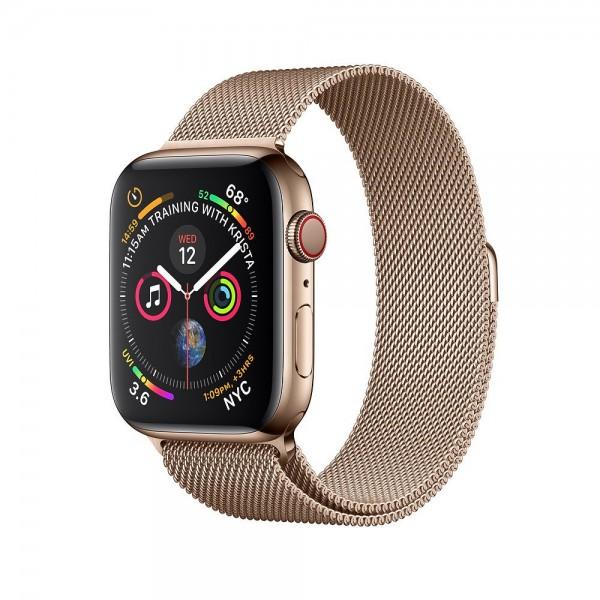 Браслет Apple Watch 42/44мм миланский сетчатый (золотой)